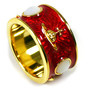 KING RING red/gold