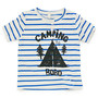 Kids henry neck tee / camping border