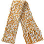 Cable Knit Scarf (caramel with cream)