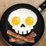 Funny Side Skull Egg Mould- Fred