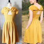 HOLLY GOLIGHTLY MUSTARD Yellow dress