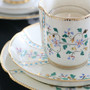 English Vintage Trio Set (Ivory × Flower)