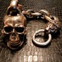 LARGE SKULL KEY CHAIN