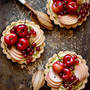 Stone Fruit Tarts w/ Coconut Pastry Cream &amp; Pistachios