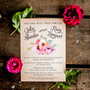 Vintage Watercolor Wedding Invitations - Vintage style,