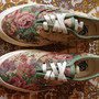 vintage VANS shoes FLORAL TEA TAPESTRY authentic style #44 MADE IN USA US5 1990's