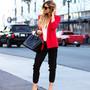 Celine Sunglasses, Bella Dahl Top, French Connection Uk Blazer, Isabel Marant Belt, Parker Pants, Givenchy Bag, Christian Louboutin Pumps