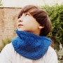 Bright blue cowl