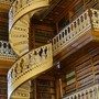 Spiral staircase in the Iowa state capital library. - Pixdaus