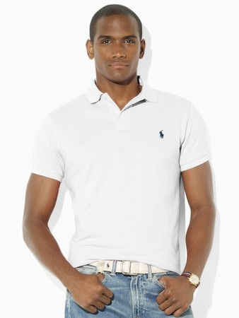 Slim-Fit Mesh Polo