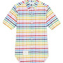 Short Sleeve Shirt In Multicolor Check Oxford
