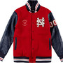 Neighborhood/Supreme Stadium Jacket All wool with leather sleeves
