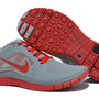 Nike Free Run 3 Wolf Grey Gym Red Mens Shoes