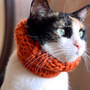 the Penelope // knitted scarf chunky cowl for cats