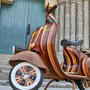 Stylin' Hand-Crafted Wooden Vespa
