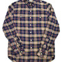 WASHED FLANNEL WORKSHIRT NVY/YELLOW/RED (NYR)
