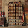 Vintage Industrial Locker Rack