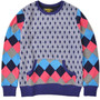Diamond Pattern Pull Over (PURPLE)