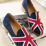 Image of European Style Mixing Color Union Jack Print Loafers