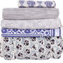 paisley collection bedding - blue