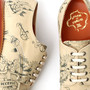 American tatoo pattern U tip Shoes