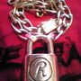 "Rabbit ""R"" Padlock & Chain"