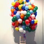 Untitled Wood, Balloon, Mixed media