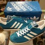 "「<deadstock>'94 adidas COUNTRY SUEDE bluegreen/white""made in JAPAN"" W/BOX size:25cm 12800yen」完売"