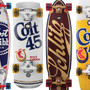 Pabst Brewing Company x Santa Cruz Beer Inspired Skateboards