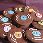 Chocolate Record Cookies